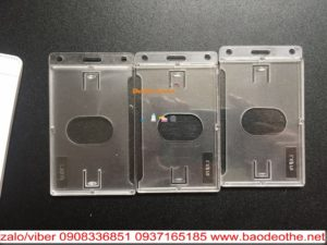 Bao đeo thẻ mica  trong suốt 1 mặt thẻ   2 mặt thẻ