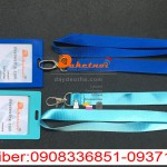 dây đeo thẻ nguyên bộ màu xanh dương ,xanh ngọc