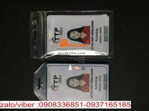 Bao đeo thẻ-bao đựng thẻ 1 mặt thẻ nhân viên .bao chứa thẻ loại ngang hoặc dọc