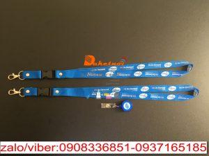 Dây đeo thẻ Pfizer dây poly 1.5cm x90 móc oval , in nhiệt nổi 2 mặt