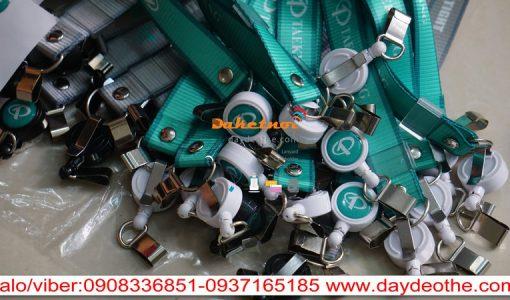 dây đeo thẻ nylon taekwang in nhiệt chìm cao cấp